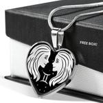 Gemini Zodiac Stainless Heart Pendant Necklace Gift For Gemini Girls