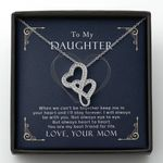 Gift For Daughter You Are My Best Friend For Life Double Hearts Necklace