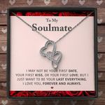 I Love You Forever And Always Gift For Soulmate Double Hearts Necklace