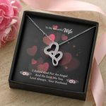 God Sent Me You Double Hearts Necklace Gift For Wife