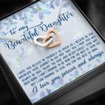 Love You For The Rest Of Mine Interlocking Hearts Necklace Gift For Daughter