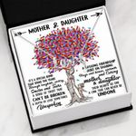Colorful Tree Their Hearts As One Scripted Love Necklace Gift For Daughter