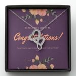 I Wish You All The Best Gift For Friend Double Hearts Necklace