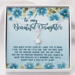 A Piece Of My Heart Blue Hibiscus Alluring Beauty Necklace Gift For Daughter