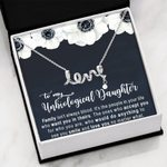 Love You No Matter What Scripted Love Necklace Gift For Bonus Daughter