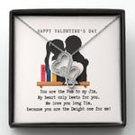 You Are The Pam To My Jim Valentine's Day Gift For Lover Double Hearts Necklace