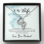 I Will Love You Until I Die Gift For Wife Double Hearts Necklace
