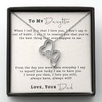 From The Day You Were Born Double Hearts Necklace Gift For Daughter