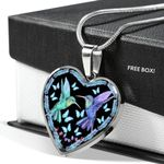 Spiritual Hummingbird Gift For Daughter Stainless Heart Pendant Necklace