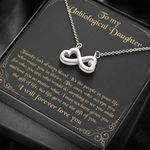 Do Anything To See You Smile Infinity Heart Necklace Gift For Bonus Daughter