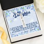 If I Was Left With Two Breaths Birthstone Name Bar Necklace Gift For Daughter