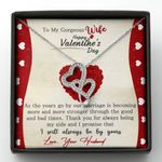 I Will Always Be By Yours Gift For Wife Double Hearts Necklace