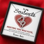 Gift For Romantic Soulmate Meeting You Was Fate Double Hearts Necklace