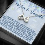 The Real Connection Is Spiritual Infinity Heart Necklace Gift For Daughter And Mother