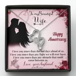 Love You More Than The Bad Days Double Hearts Necklace Gift For Wife