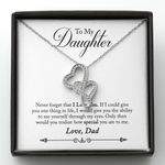 How Special You Are To Me Gift For Daughter Double Hearts Necklace