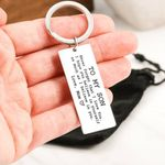 I Believe In You Mom Gift For Son Engraved Keyring