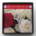 You Are So Precious To Me Roses Gift For Lover Double Hearts Necklace