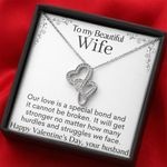 How Many Hurdles And Struggles We Face Gift For Wife Double Hearts Necklace