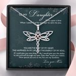 Gift For Daughter Dragonfly Dreams Necklace You Are The Beat Of My Heart