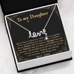 When We're Not Together Scripted Love Necklace Gift For Daughter