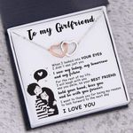 Your Eyes I Saw My Today Interlocking Hearts Necklace Gift For Girlfriend