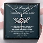 Gift For Daughter Dragonfly Dreams Necklace From Dad I Will Always Be With You
