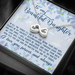 No Matter How Far You Travel Infinity Heart Necklace Gift For Daughter