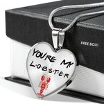 You're My Lobster Gift For Girlfriend Stainless Heart Pendant Necklace
