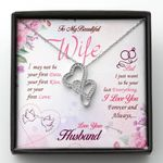 Want To Be Your Last Everything Gift For Wife Double Hearts Necklace
