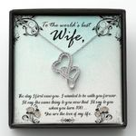 Gift For Wife I Wanted To Be With You Forever Double Hearts Necklace