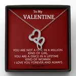 You Are A Once In A Lifetime Double Hearts Necklace Gift For Wife