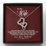 If It's Not You It's No One Burgundy Gift For Wife Double Hearts Necklace