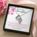 When The Pages Of My Life End Double Hearts Necklace Gift For Daughter