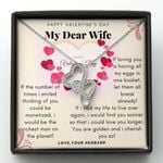 I Cherish You So Gift For Wife Double Hearts Necklace