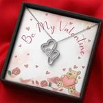 Be My Valentine Gift For Lover Double Hearts Necklace