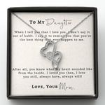 I Loved You Then Mom Gift For Daughter Double Hearts Necklace