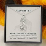 A Mother's Treasure White Background Giraffe Couple Necklace Gift For Daughter