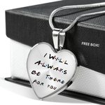 Always There For You Stainless Heart Pendant Necklace Gift For Women