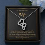 For All The Times I Forget To Thank You Double Hearts Necklace Gift For Wife