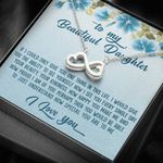 How I See You Every Single Day Infinity Heart Necklace Gift For Daughter