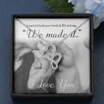 We Made It I Love You Double Hearts Necklace Gift For Wife