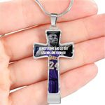 Kobe Bryant Heroes Come And Go Stainless Cross Pendant Necklace Gift For Fans