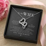 Double Hearts Necklace Husband Gift For My Wife I Will Love You Then