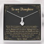 When We're Not Together Black Background Alluring Beauty Necklace Gift For Daughter