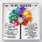 Colorful Tree Stay Strong Be Confident Love Knot Necklace Gift For Daughter