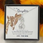 She Is My Heart Giraffe Couple Necklace Gift For Daughter