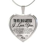 Gift For Daughter Stainless Heart Pendant Necklace Love You For The Rest Of Mine