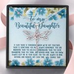 Blue Hibiscus When We're Not Together Dragonfly Dreams Necklace Gift For Daughter