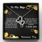 I Can't Wait To Start Our Lives Together Double Hearts Necklace Gift For Wife